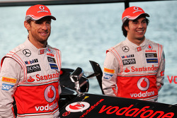 Jenson Button, McLaren y Sergio Pérez, McLaren