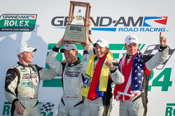GX podium: class winners Nelson Canache, Shane Lewis, David Donohue, Jim Norman