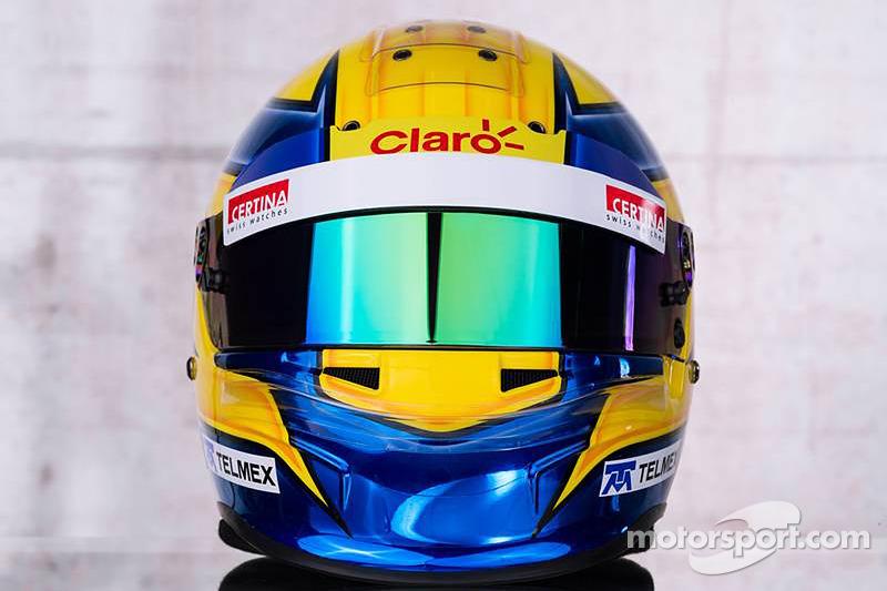 The helmet of Esteban Gutierrez, Sauber F1 Team