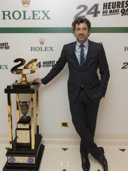Patrick Dempsey con el Trofeo de Las 24 Horas de Le Mans