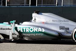 Mercedes AMG F1 W04 sidepod detail