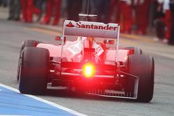 Fernando Alonso, Ferrari F138 running sensor equipment