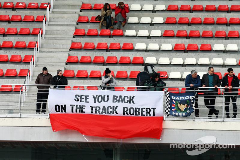 Banner voor Robert Kubica