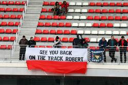 Bandeira para Robert Kubica