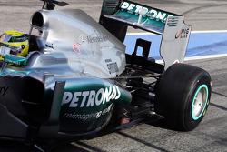 Nico Rosberg, Mercedes AMG F1 W04 rear suspension