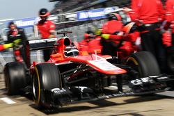 Jules Bianchi, Marussia F1 Team MR02 deja los pits