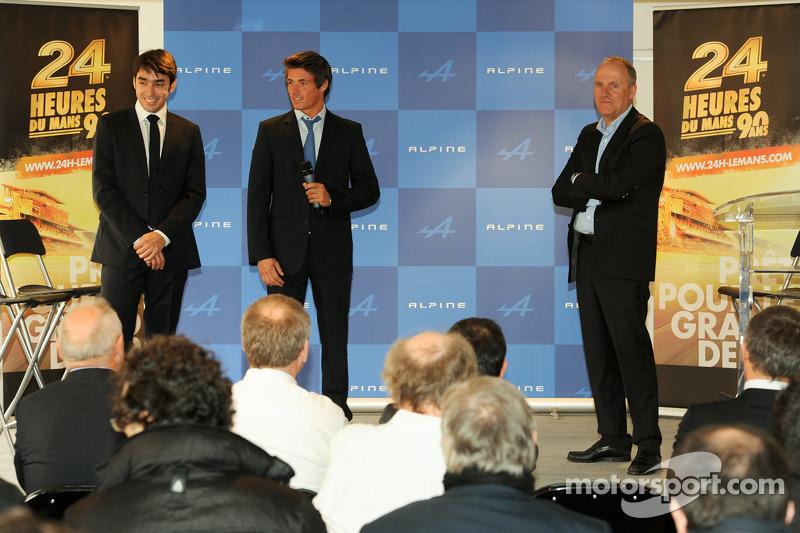 Пьер Раг и Нельсон Панчатичи. Renault Alpine возвращается в соревнования спорткаров, презентация.