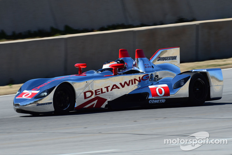 Andy Meyrick tests the DeltaWing