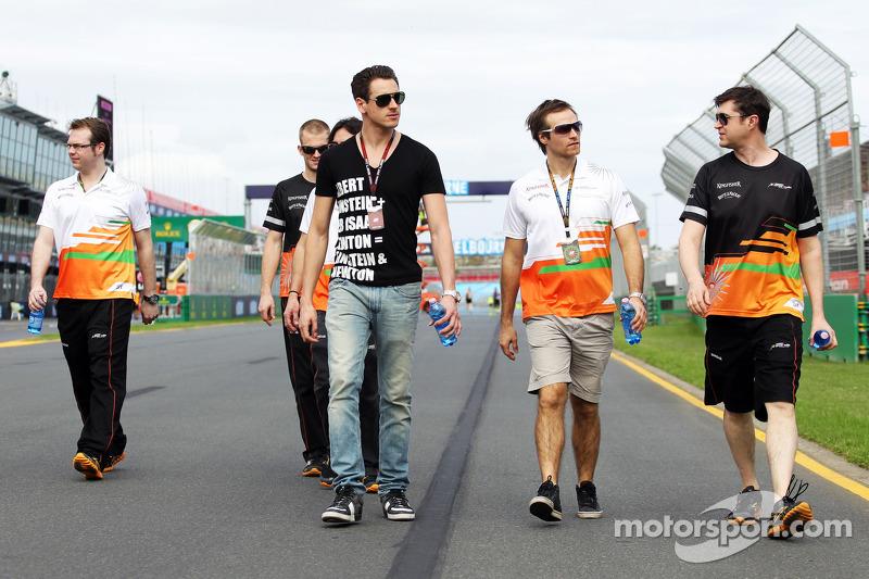 Adrian Sutil, Sahara Force India F1 loopt op het circuit
