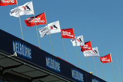 F1 and Australian Grand Prix flags