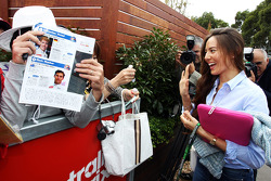 Jessica Michibata, signs autographs for the fans