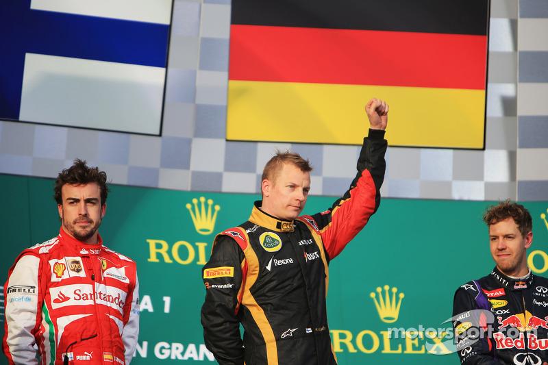 Apesar da vitória na abertura do campeonato, na Austrália, Raikkonen não correu nas últimas duas corridas por conta de uma cirurgia para aliviar dores nas costas. em seu lugar, a Lotus escalou outro finlandês, Heikki Kovalainen.