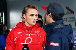 (Da esquerda para direita): Max Chilton, Marussia F1 Team, e Daniel Ricciardo, Scuderia Toro Rosso, no desfile dos pilotos