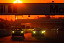 #99 Competiton Motorsports Porsche 911 GT3 Cup: David Calvert-Jones, Sascha Maassen, Lawson Aschenbach, #22 Alex Job Racing Porsche 911 GT3 Cup: Cooper MacNeil, Jeroen Bleekemolen, Dion von Moltke