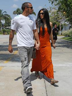 Lewis Hamilton, Mercedes AMG F1 with girlfriend Nicole Scherzinger, Singer