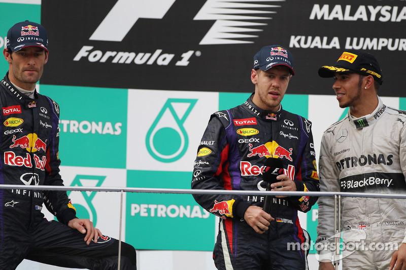 2013: 1. Sebastian Vettel, 2. Mark Webber, 3. Lewis Hamilton