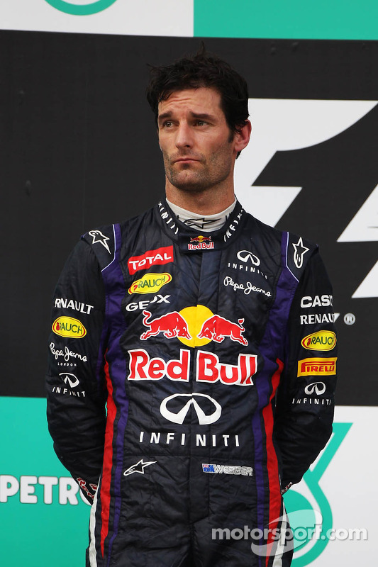 Podio: Mark Webber, Red Bull Racing el segundo lugar