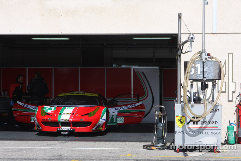 #71 AF Corse Ferrari F458 Italia: Gianmaria Bruni, Giancarlo Fisichella, Toni Vilander, Kamui Kobaya