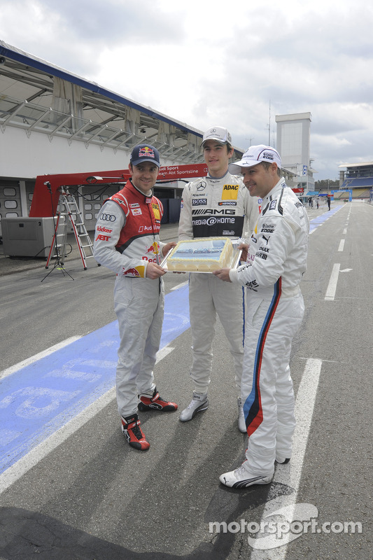 Jamie Green, Audi Sport Team Abt Sportsline; Christian Vietoris, Team HWA; Andy Priaulx, BMW Team RM