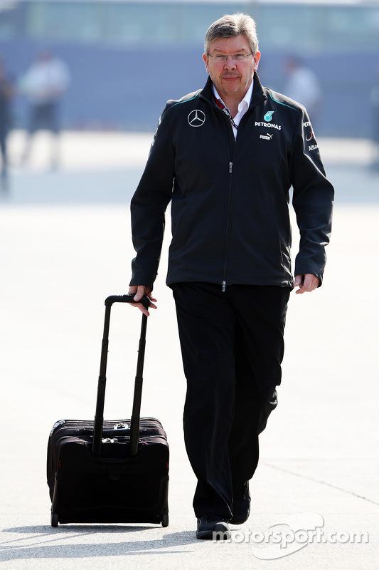Ross Brawn, chefe da equipe Mercedes AMG F1