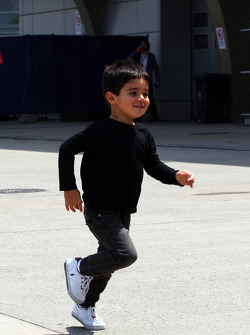 Felipinho, the son of Felipe Massa, Ferrari