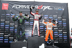 Podium: winner Daijiro Yoshihara, second place Vaughn Gittin Jr., third place Chris Forsberg