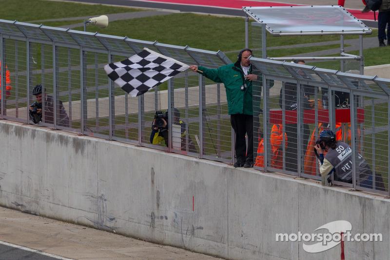 Finishvlag voor 6 Hours of Silverstone