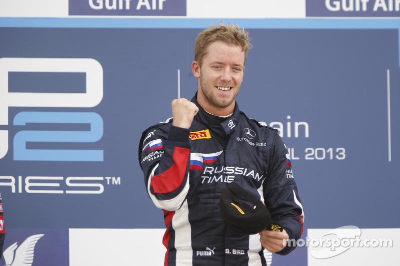 Podium: race winner Sam Bird