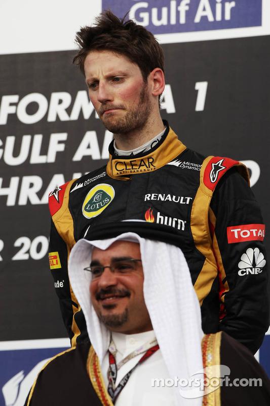 Romain Grosjean, Lotus F1 Team no pódio