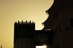 Sun sets over the Bahrain GP