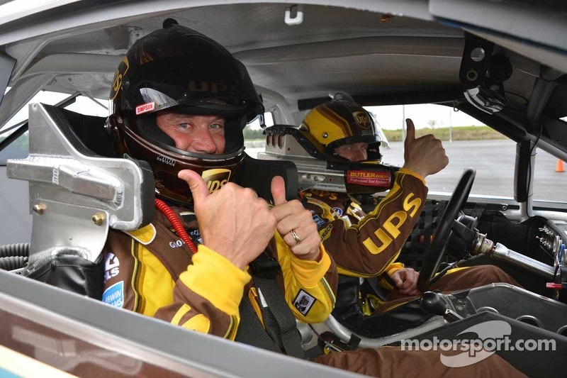 Carl Edwards, Roush Fenway Racing Ford and pro golfer Lee Westwood