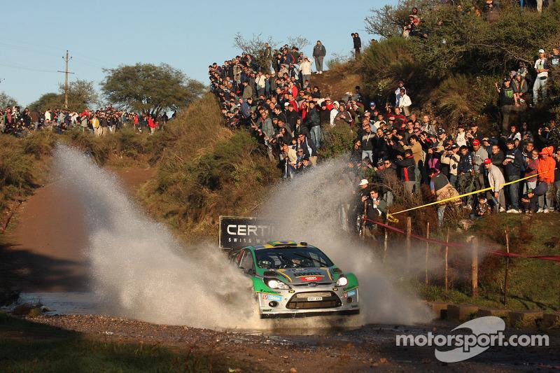 Daniel Oliveira en Carlos Magalhaes, Ford Fiesta WRC