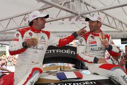 Winnaars Sébastien Loeb en Daniel Elena, Citroën DS3 WRC, Citroën Total Abu Dhabi World Rally Team