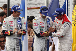 Podium: second place Sébastien Ogier and Julien Ingrassia, Volkswagen Polo WRC, Volkswagen Motorsport