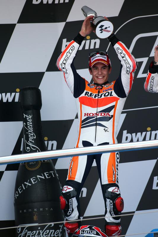 pódio: segundo colocado Marc Marquez, Repsol Honda Team
