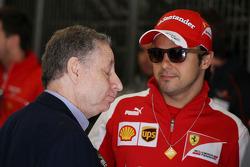 (Da esquerda para direita): Jean Todt, presidente da FIA, com Felipe Massa, Ferrari