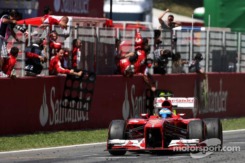 Переможний фініш Фернандо Алонсо, Ferrari