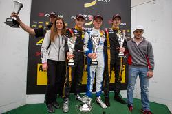 German F3 podium: Cyndie Allemann et Laurens Vanthoor