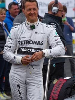 Michael Schumacher at the Formula One exhibition lap