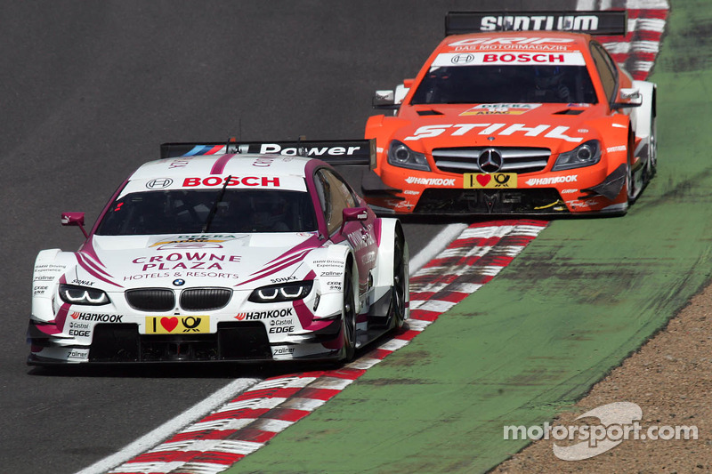Andy Priaulx, BMW Team RMG BMW M3 DTM en Robert Wickens, HWA, DTM Mercedes AMG C-Coupe