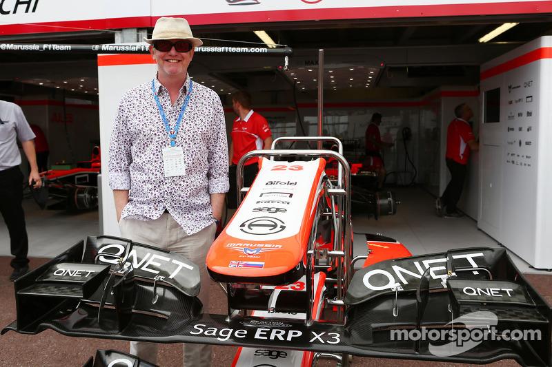 Chris Evans, Radio DJ en TV-presentator met het Marussia F1 Team team