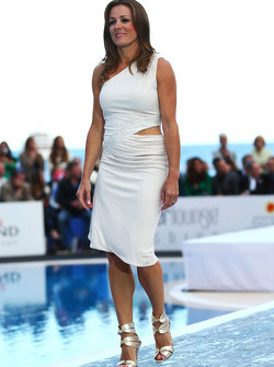 Natalie Pinkham, Sky Sports Presenter at the Amber Lounge Fashion Show