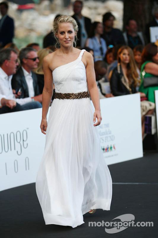 Jennifer Becks, girlfriend of Adrian Sutil, Sahara Force India F1 at the Amber Lounge Fashion Show