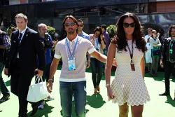 Tamara Ecclestone, with fiance Jay Rutland