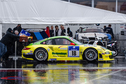 #18 Manthey-Racing Porsche 911 GT3 RSR (SP7) heads to technical inspection