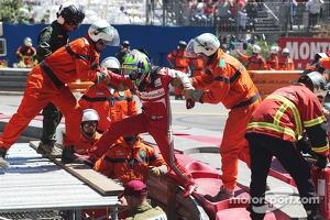 Felipe Massa, Ferrari crashes at Ste Devote