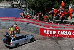 The Medical Car carries Felipe Massa, Ferrari to the Medical Centre