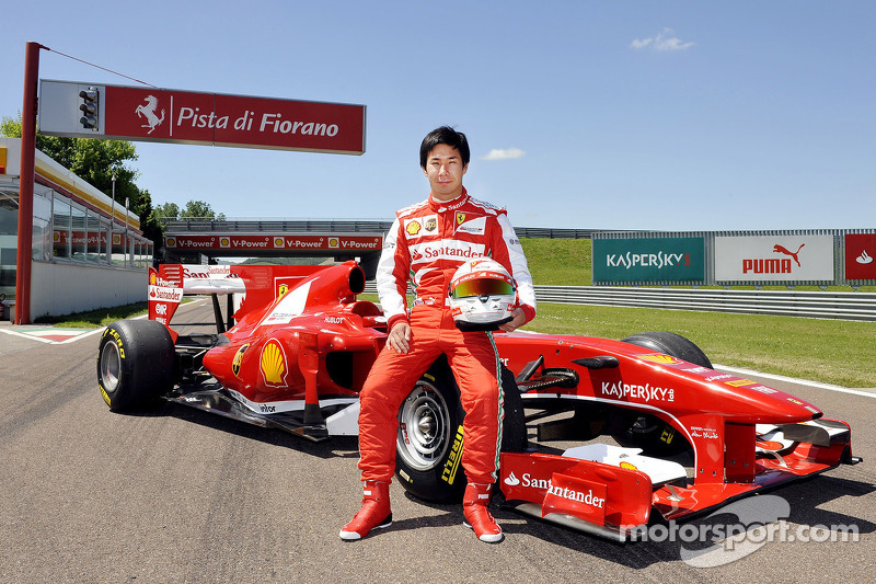 Kamui Kobayashi testing a Ferrari F10 at Kamui Kobayashi tests ...