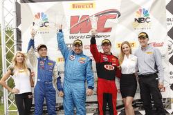 Podium: Alec Udell, Mustang Boss 302R Dean Martin, Ford Mustang Boss 302S Mark Wilkins, Kia Optima
