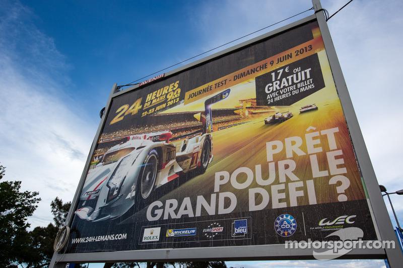 Billboard voor de 2013 24 uur van Le Mans